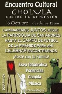evento cholula vs represión